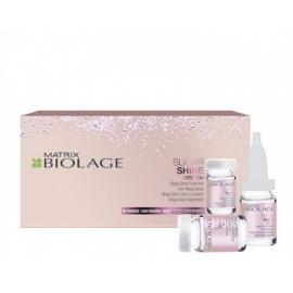 Spindesio plaukams suteikiančios ampulės Matrix Biolage Sugar Shine System Mega Gloss Treatment 10x6ml