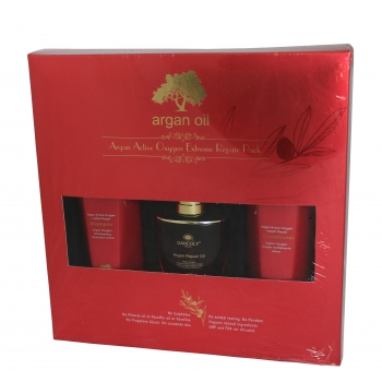 Pažeistų plaukų rinkinys su argano aliejumi Argan Active Oxygen Extreme Repair Pack