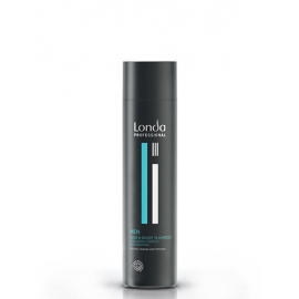 Plaukų ir kūno šampūnas vyrams su energizuojančiu mentolio kompleksu Londa Men Hair Body shampoo 250 ml