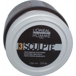 L'oreal Professionnel Homme 3 Force Sculpt Paste lengvos fiksacijos plaukų pasta