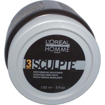 Lengvos fiksacijos plaukų pasta L'oreal Professionnel Homme 3 Force Sculpt Paste 150 ml