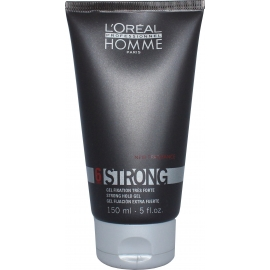 Stiprios fiksacijos plaukų želė L'oreal Professionnel Homme 6 Strong Hold gel 150 ml
