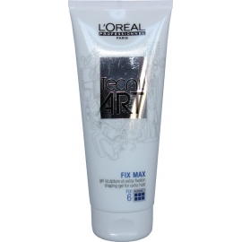 Stiprios fiksacijos plaukų želė L'oreal Tec ni Art Fix Max Shaping gel for extra hold 6 200 ml