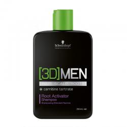 Schwarzkopf [3D]MEN Root Activator Shampoo šampūnas skatinantis plaukų augimą