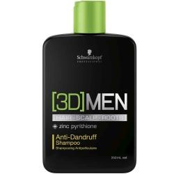 Schwarzkopf 3D MEN Anti-Dandruff Shampoo šampūnas plaukams nuo pleiskanų (vyrams)