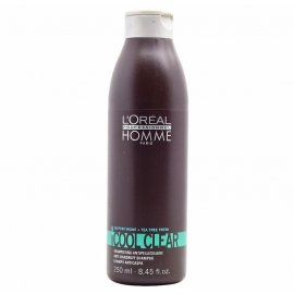 Šampūnas plaukams nuo pleiskanų L'Oreal Professionnel Homme Cool Clear Shampoo 250ml