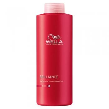 Šampūnas šiurkštiems, storiems dažytiems plaukams Wella Brilliance Coarse 500 ml