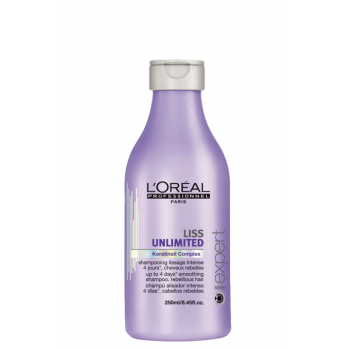 Šampūnas nepaklusniems plaukams L'Oreal Liss Unlimited Keratinoil Complex Shampoo 250ml