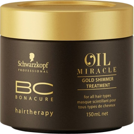 Kaukė su argano aliejumi Schwarzkopf Bonacure Oil Miracle Gold Shimmer Treatment 150 ml