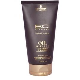 Schwarzkopf Bonacure Oil Miracle Gold Shimmer kondicionierius plaukams su argano aliejumi