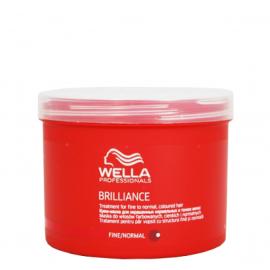 Kaukė ploniems ir normaliems dažytiems plaukams Wella Brilliance Fine 500 ml