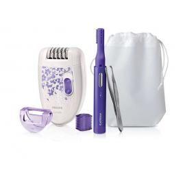 PHILIPS Rinkinys- Epiliatorius, koreguojamasis peiliukas ir pincetas visam kūnui