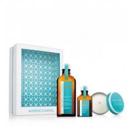 Moroccanoil Aliejų rinkinys ploniems plaukams (dovana-kvapni žvakė)