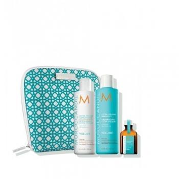 Moroccanoil dovanų rinkinys- Apimtį didinantis šampūnas, kondicionierius ir aliejukas