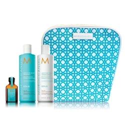 Moroccanoil Repair dovanų rinkinys- atstatomasis šampūnas, kondicionierius, aliejukas