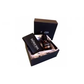 NOBERU SANDALWOOD dovanų rinkinys barzdos priežiūrai (aliejus ir medinės šukos)