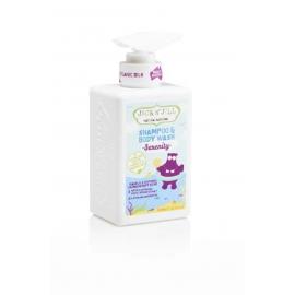 JACKN'JILL Serenity hipoalerginis raminantis prausiklis ir šampūnas su baltojo kipariso ir levandų aliejaus ekstraktais