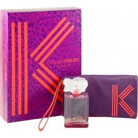 KENZO Couleur Rose Pink rinkinys moterims (parfumuotas vanduo ir kosmetinė)