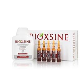 Bioxsine rinkinys plaukų priežiūrai (Serumas ir šampūnas nuo plaukų slinkimo) sausiems/normaliems plaukams