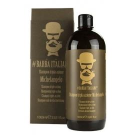 Šampūnas plaukams nuo pleiskanų Barba Italiana Tri - Action Michelangelo, BI007BIG, 1000 ml