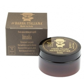 Formavimo pasta plaukams Barba Italiana, Strong Matte Hair Paste Insolia, stiprios fiksacijos, BI07070, 100 ml