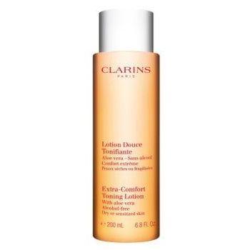 Clarins Extra Comfort Toning Lotion Dry Skin W 200ml Do oczyszczania