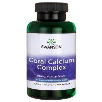 Swanson Ultra Koralinis kalcis + Magnis ir vitaminas D N90 maisto papildas