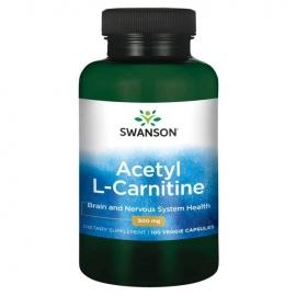 Swanson ACETIL L-KARNITINAS N100 maisto papildas, padedantis deginti susikaupusius riebalus, mažinti alkio jausmą