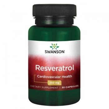 Swanson RESVERATROLIS 250 mg N30 maisto papildas
