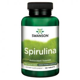 Swanson SPIRULINA N180 maisto papildas, stiprinantis imuninę sistemą, mažinantis nuovargį, PMS, apatiškumą