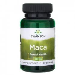 Swanson Superior Herbs Maka (Maca) 500 mg N60 maisto papildas