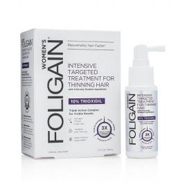 Foligain Hair Regrowth Treatment Plaukų augimą skatinantis purškiklis moterims su 10% Trioksidiliu
