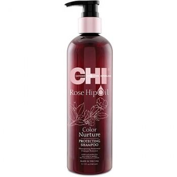 CHI šampūnas dažytiems plaukams su erškėtuogių aliejumi