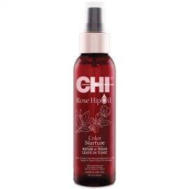CHI Rose Hip Oil atkuriamasis ir spindesio suteikiantis nenuskalaujamas tonikas su erškėtuogių aliejumi