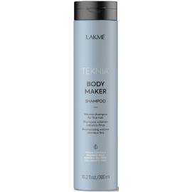 Apimties plaukams suteikiantis šampūnas Lakme Teknia Body Maker Shampoo LAK44612, ploniems ir silpniems plaukams, 300 ml