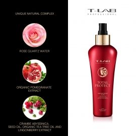 Dažytų ir chemiškai apdorotų plaukų fluidas T-LAB Professional Total Protect Hair and Scalp Fluid 150ml