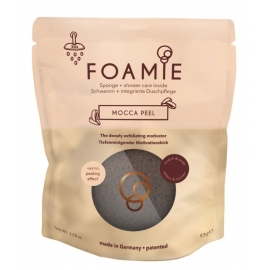 Kempinė su putojančiu prausikliu Foamie Sponge + Shower Care Inside Mocca Peel FMPCMP1002