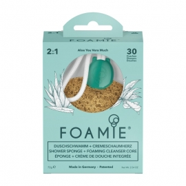 Kempinė su putojančiu prausikliu Foamie Sponge + Shower Care Inside Aloe You Vera Much FMSPAV1