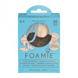 Kempinė su putojančiu prausikliu Foamie Sponge + Shower Care Inside Shake Your Coconuts FMSPSC1