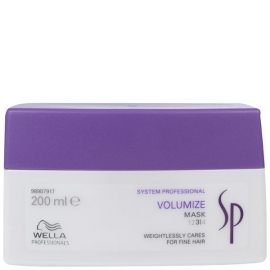 Wella System Professional Kaukė didinanti plaukų apimtį Wella SP Volumize Mask 200 ml