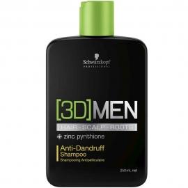 Schwarzkopf Professional Šampūnas plaukams nuo pleiskanų Schwarzkopf [3D]MEN Anti-Dandruff Shampoo 250ml