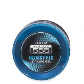Farcom professional Blizgi modeliavimo želė vyrams FARCOM Men Code 555 Glossy Fix Styling Gel 250 ml