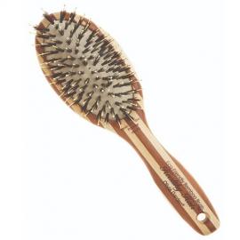 Eko Higiena Plaukų šepetys Olivia Garden Paddle Combo Bamboo Brush P6