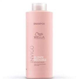 Wella Professionals Geltonį neutralizuojantis šampūnas Wella Blonde Recharge Invigo Shampoo 1000ml