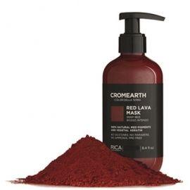 Rica Ryškiai raudona, dažanti kaukė plaukams RICA Cromearth I Colordi Della Terra Red Lava Mask 1000 ml