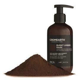 Rica Tamsiai ruda, dažanti kaukė plaukams RICA Cromearth I Colordi Della Terra Burnt Umber 1000 ml
