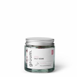 blöta Salt Soak Rose Petal & Rosemary Vonios druska, 120g