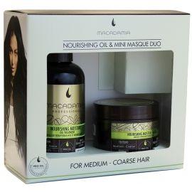 Macadamia Natural Oil Nourishig Oil & Mini Masque Duo maitinamųjų, drėkinamųjų priemonių rinkinys