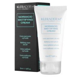 Kleraderm Normacid Mattifying dieninis riebios ir spuogotos odos kremas (pH4.5)