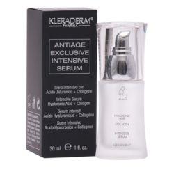 Kleraderm Anti-age Exclusive intensyvus serumas nuo raukšlių su kolagenu elastinu ir hialurono rūgštimi